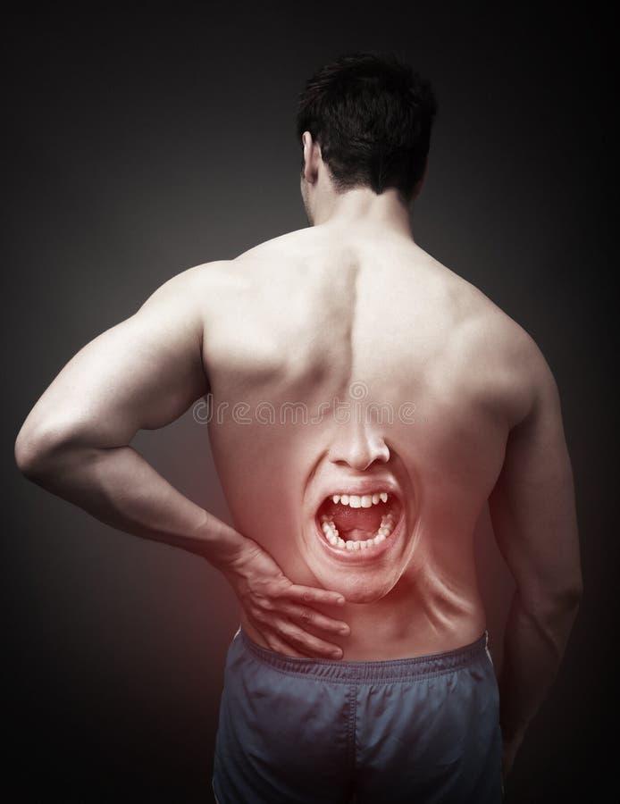 Concepto del dolor de espalda imagen de archivo