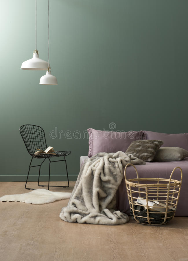 Concepto del dormitorio fotos de archivo