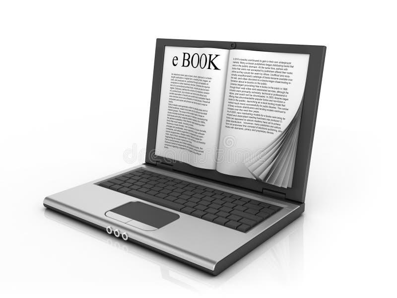 concepto del E-libro 3d ilustración del vector