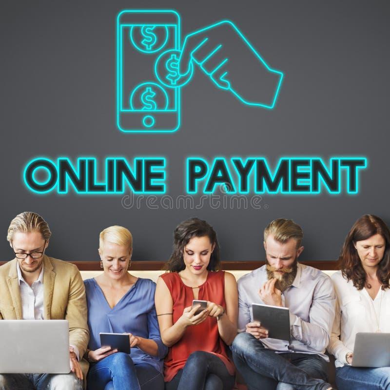 Concepto del E-pago de la contabilidad de la transacción de actividades bancarias del pago fotografía de archivo libre de regalías