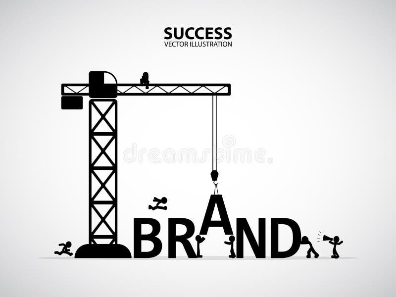 Concepto del edificio de la marca del diseño, ejemplo del vector libre illustration