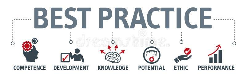 Concepto del ejemplo del vector de la mejor práctica stock de ilustración
