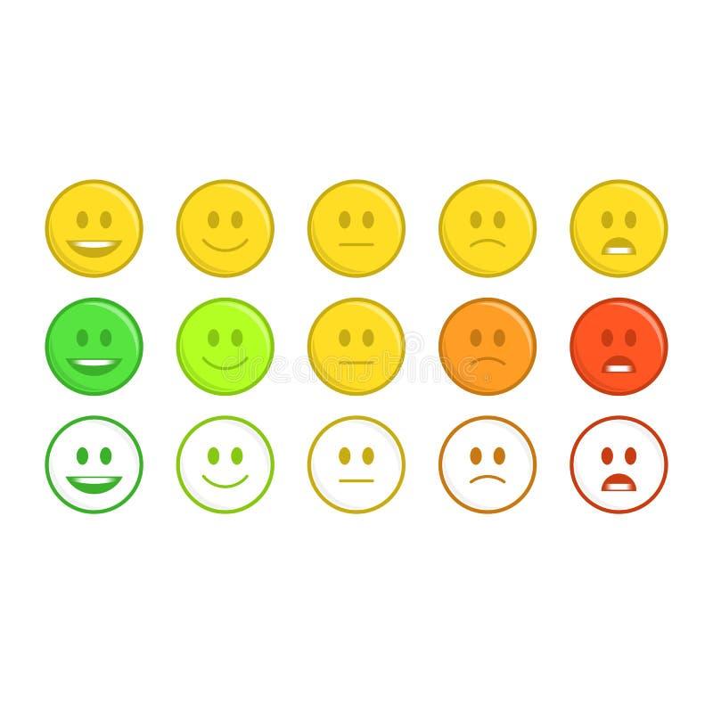 Concepto del emoticon de la reacción stock de ilustración