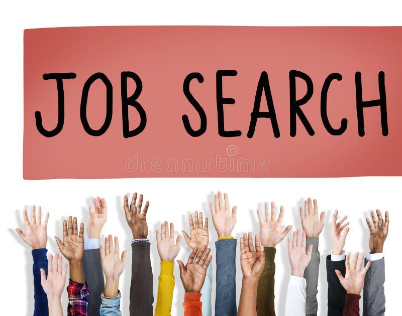 Concepto del empleo de Job Search Career Hiring Opportunity imágenes de archivo libres de regalías