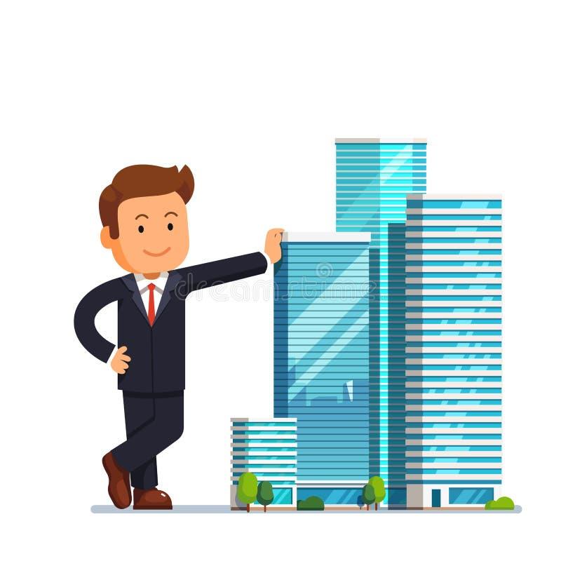 Concepto del empresario del promotor inmobiliario ilustración del vector