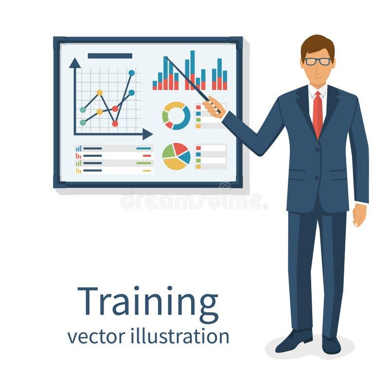 Concepto del entrenamiento del asunto stock de ilustración