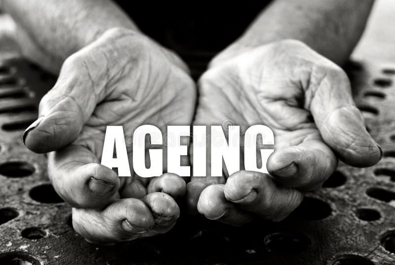 Concepto del envejecimiento fotografía de archivo