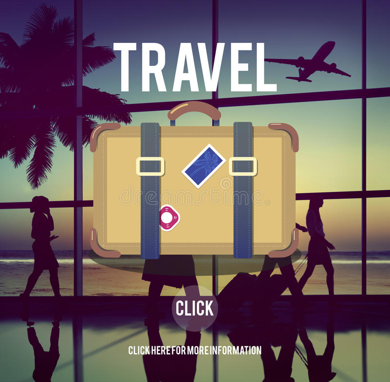 Concepto del equipaje de las vacaciones de la pasión por los viajes del viaje del turismo fotos de archivo