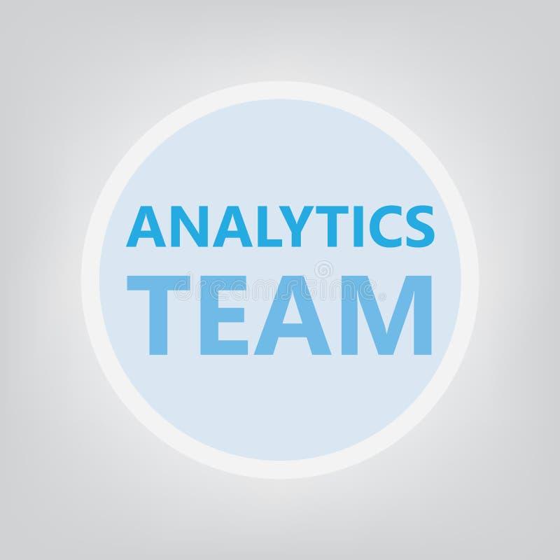 Concepto del equipo del Analytics stock de ilustración