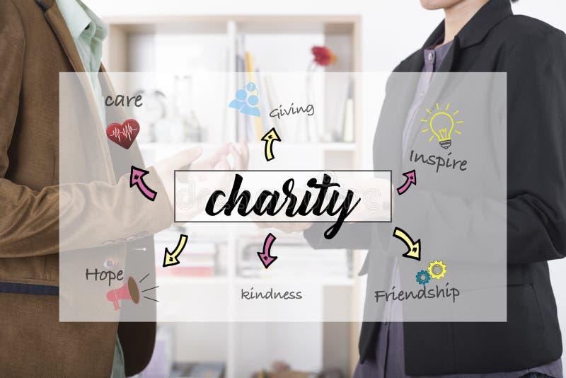 Concepto del equipo de la comunidad empresarial para las donaciones de la caridad libre illustration