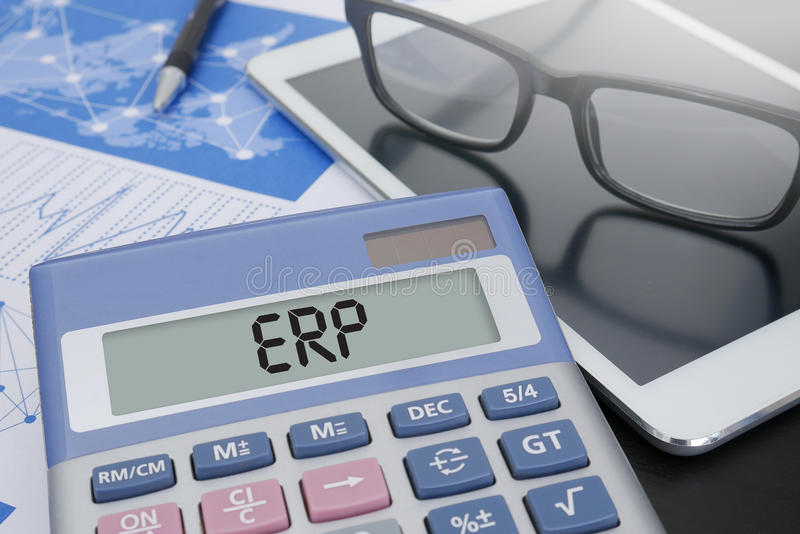 Concepto del ERP imágenes de archivo libres de regalías