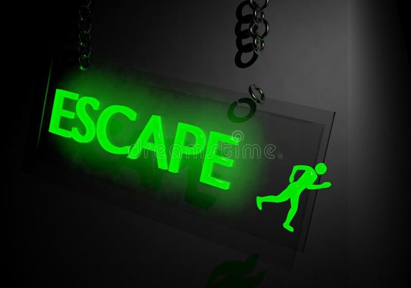 Concepto del escape stock de ilustración