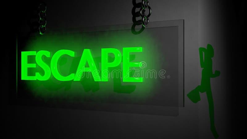 Concepto del escape ilustración del vector