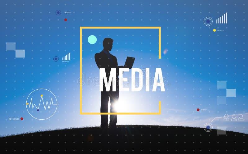 Concepto del establecimiento de una red de la tecnología de Digitaces de la conexión de la comunicación imagen de archivo libre de regalías