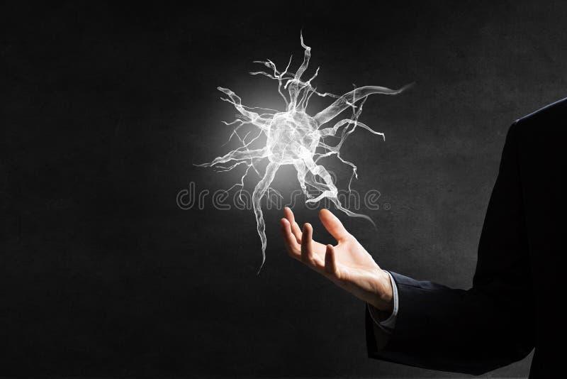 Concepto del estudio de la neurología imagenes de archivo