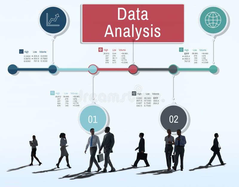 Concepto del estudio de los detalles de los hechos del análisis de datos stock de ilustración