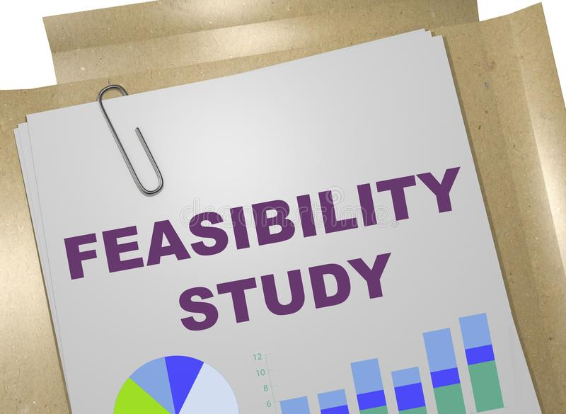 Concepto del estudio de viabilidad stock de ilustración