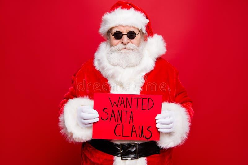 Concepto del evento del invierno de las Navidades Crimen confiado tranquilo del peligro imagen de archivo