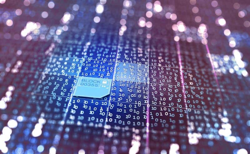 Concepto del extracto del ciberespacio ejemplo 3D en un fondo digital fotos de archivo