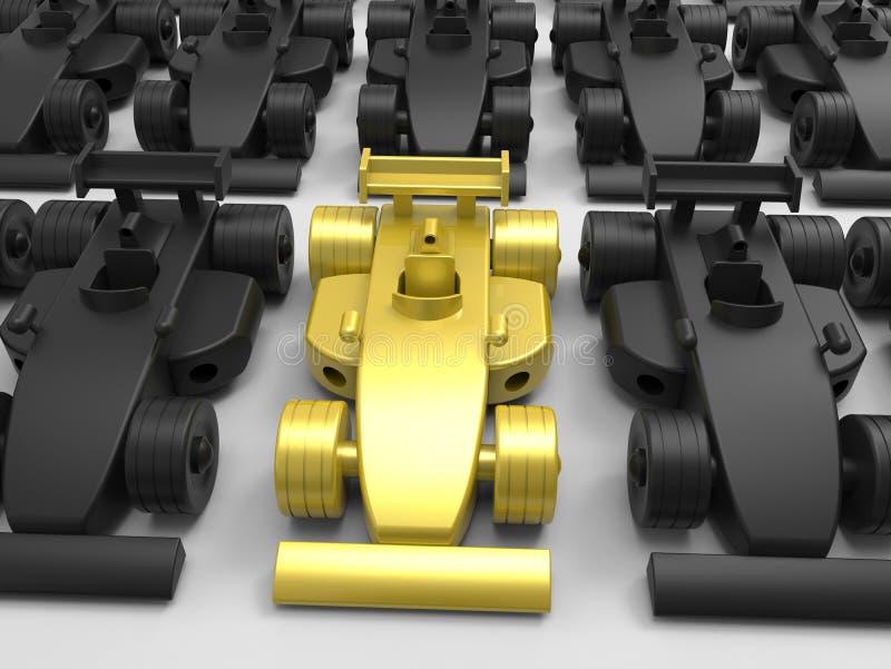 Concepto del Fórmula 1 del campeón libre illustration