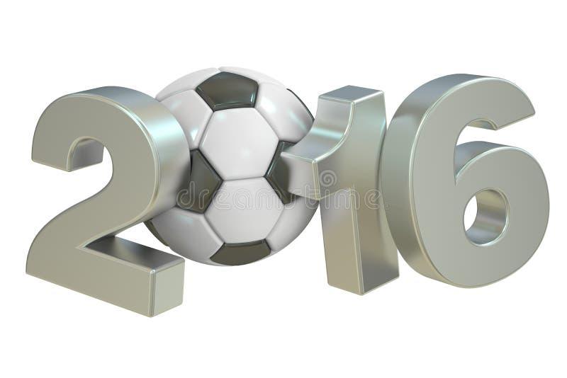Concepto 2016 del fútbol stock de ilustración