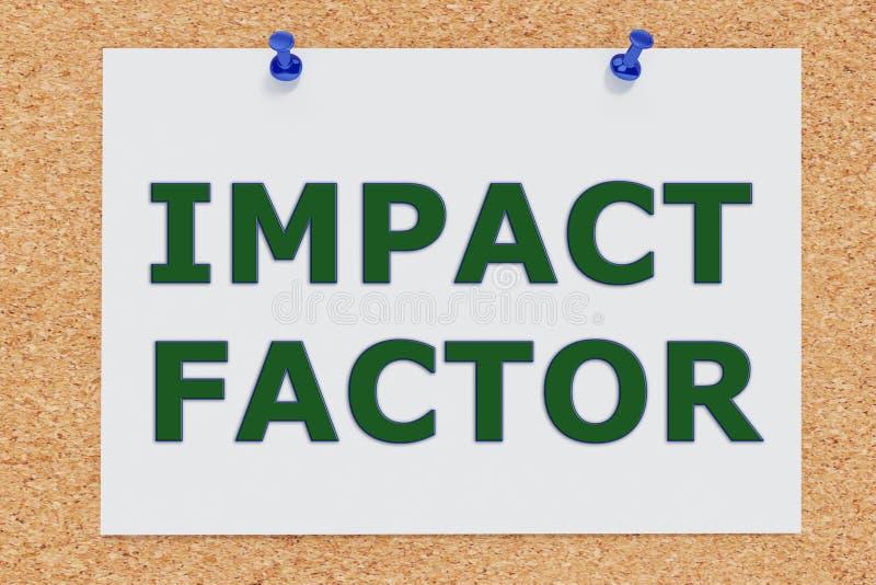 Concepto del factor de impacto stock de ilustración