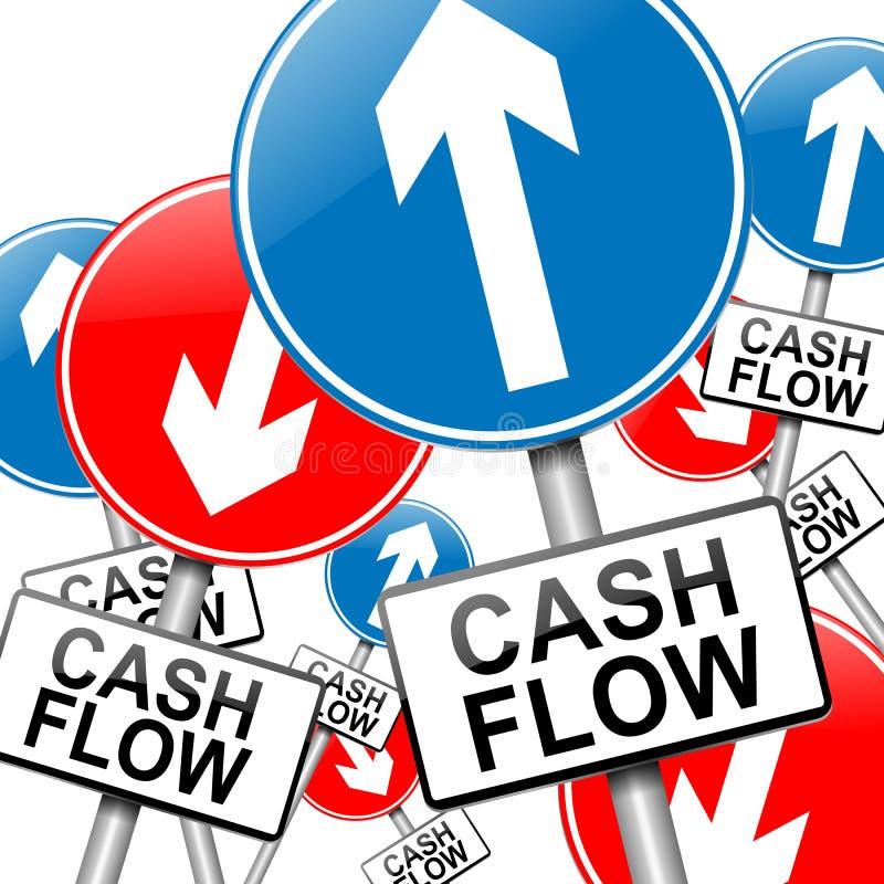 Concepto del flujo de liquidez. libre illustration