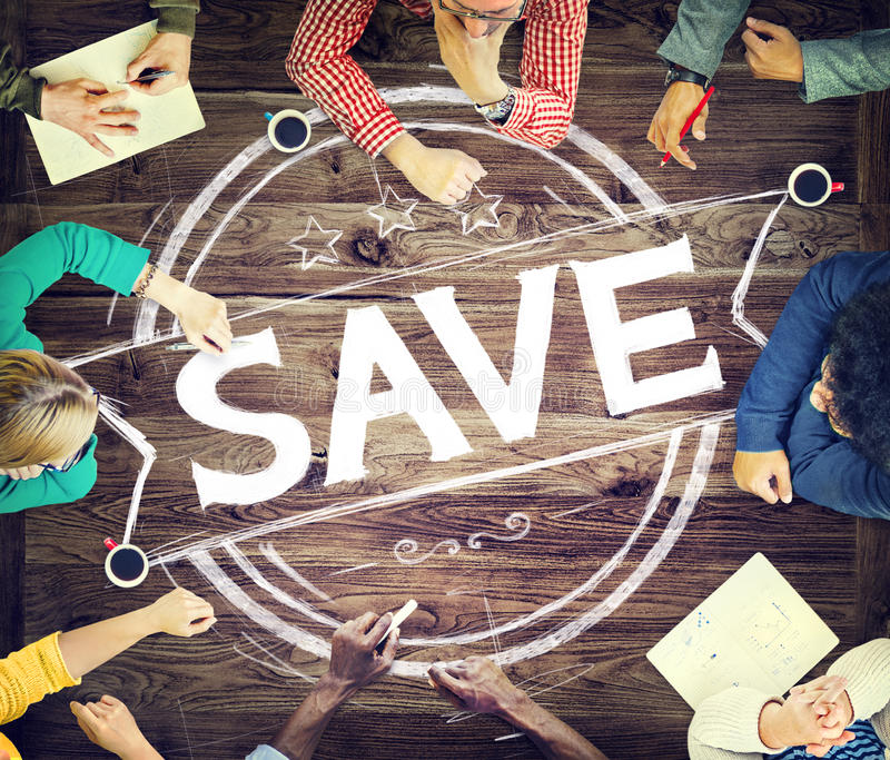 Concepto del fondo de dinero de las finanzas de la reserva de la cuenta de ahorro imagen de archivo libre de regalías