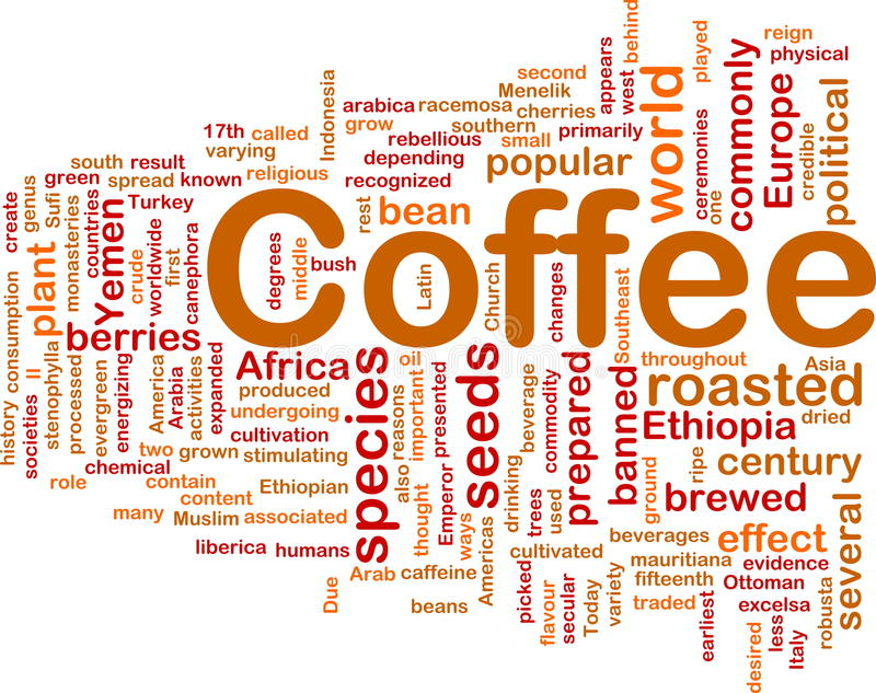 Concepto del fondo de la bebida del café ilustración del vector