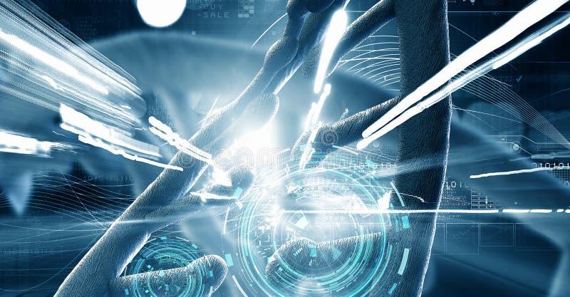 Concepto del fondo de la biotecnología ilustración del vector