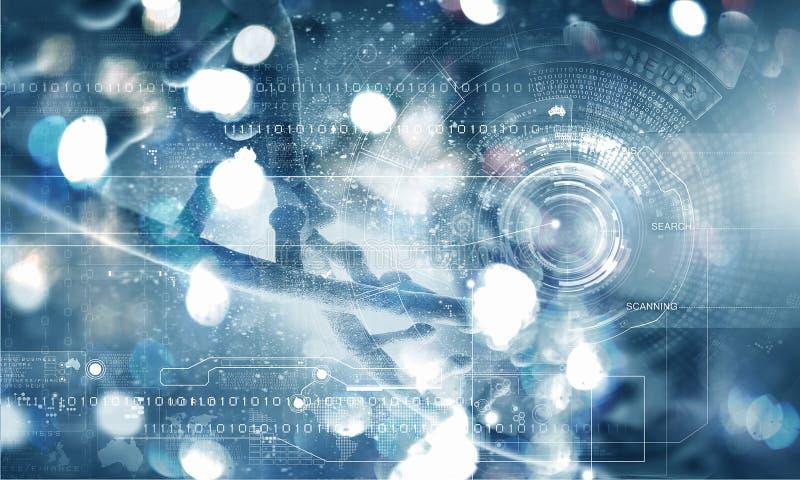 Concepto del fondo de la biotecnología libre illustration