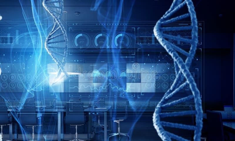 Concepto del fondo de la biotecnología stock de ilustración