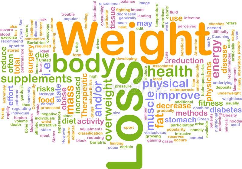 Concepto del fondo de la pérdida de peso ilustración del vector