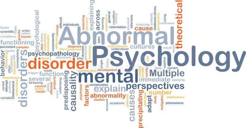 Concepto del fondo de la psicología anormal stock de ilustración