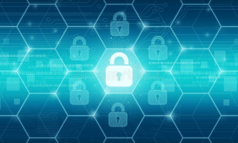 Concepto del fondo de los datos de la seguridad del negocio stock de ilustración