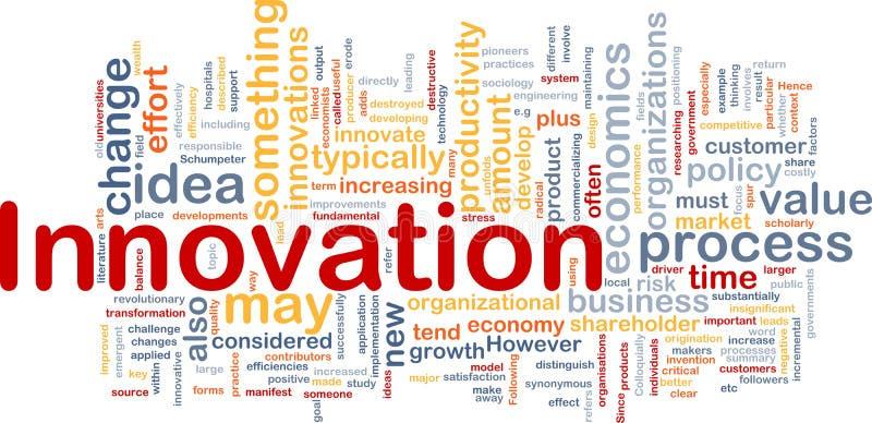 Concepto del fondo del asunto de la innovación ilustración del vector