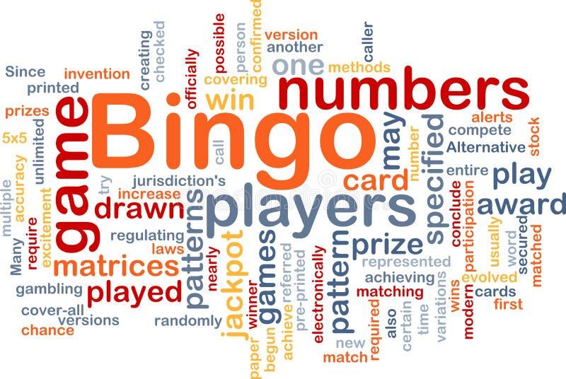Concepto del fondo del juego del bingo ilustración del vector