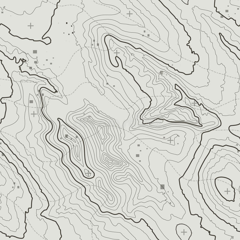 Concepto del fondo del mapa topográfico con el espacio para su copia Líneas contorno del arte, pista de la topografía de senderis stock de ilustración