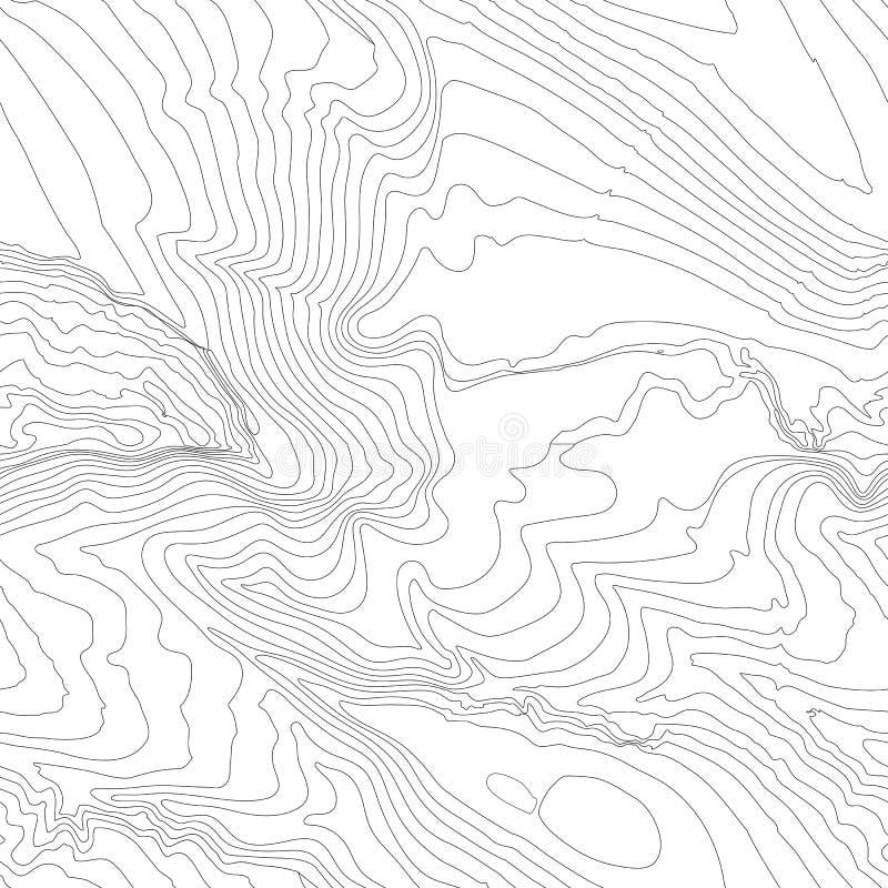 Concepto del fondo del mapa topográfico con el espacio para su copia Líneas contorno del arte, pista de la topografía de senderis ilustración del vector