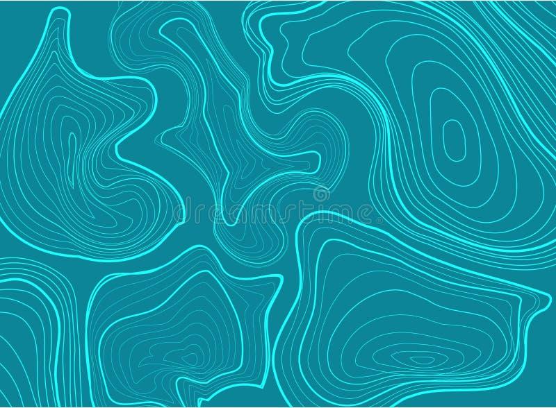 Concepto del fondo del mapa topográfico libre illustration