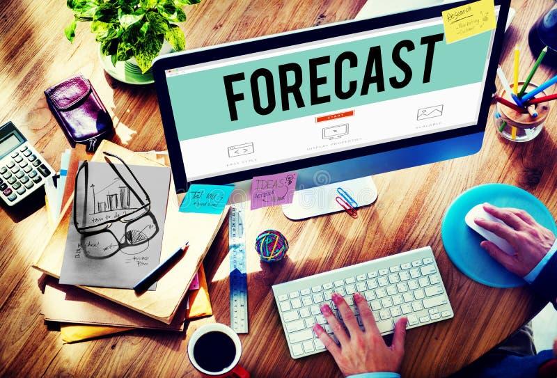 Concepto del futuro de la probabilidad de la precisión de la predicción del pronóstico fotografía de archivo libre de regalías