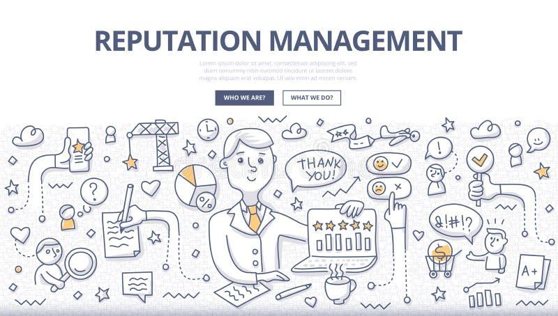 Concepto del garabato de la gestión de la reputación libre illustration