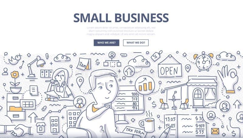 Concepto del garabato de la pequeña empresa libre illustration