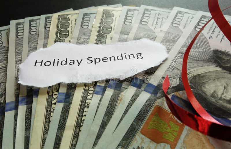 Concepto del gasto del día de fiesta foto de archivo