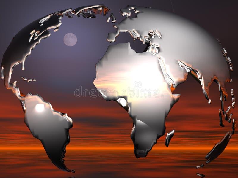 Concepto del globo stock de ilustración