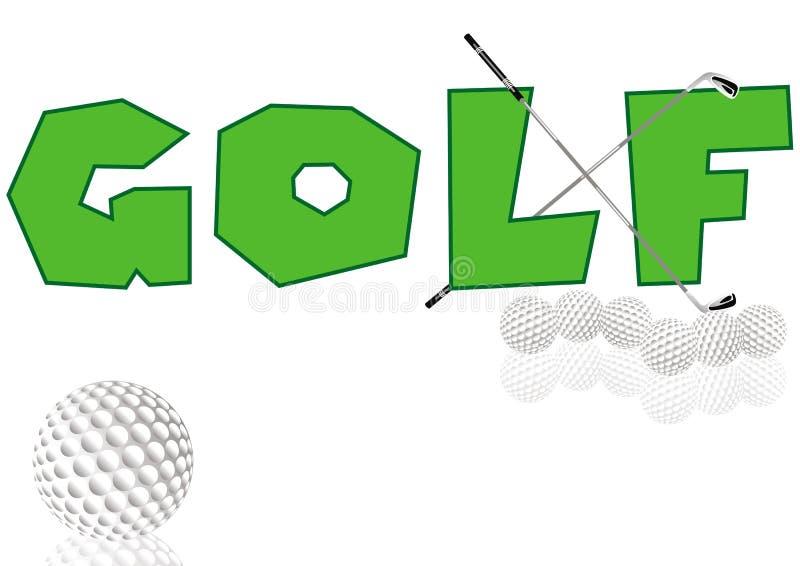 Concepto del golf libre illustration