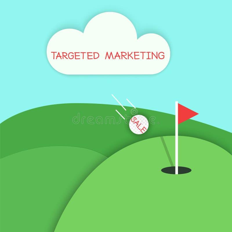 Concepto del golf del márketing apuntado stock de ilustración