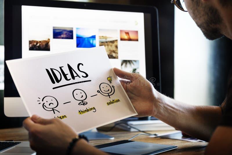 Concepto del gráfico de la gente del pensamiento creativo de las ideas fotos de archivo libres de regalías