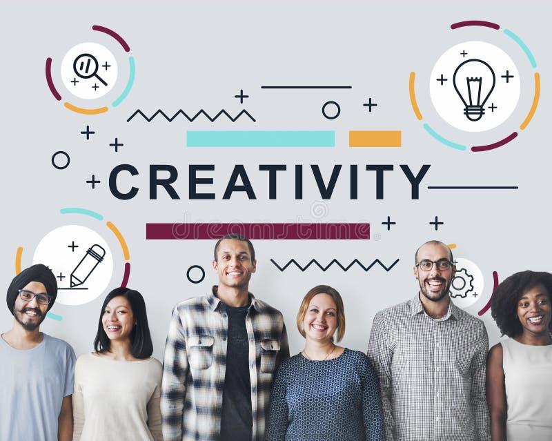 Concepto del gráfico de la invención del diseño de las ideas de la creatividad imagenes de archivo