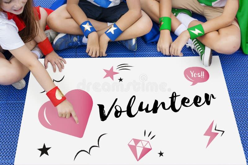 Concepto del gráfico del corazón de la donación de la caridad fotografía de archivo libre de regalías